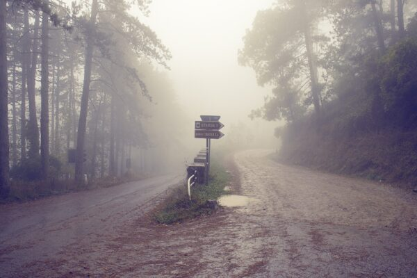 Should I leave my marriage? Image shows fork in the road to represent the choice you make when considering separation
