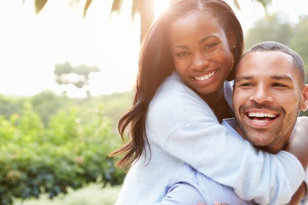 Happy couple after divorce